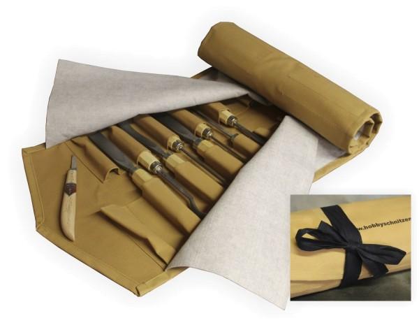 Werkzeugrolltasche für Schnitzeisen und Schnitzmesser