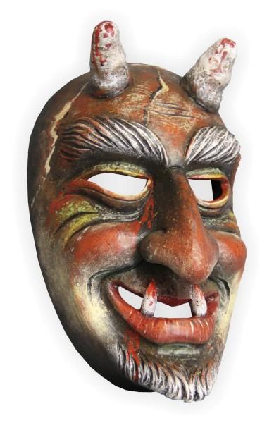 Teufelsmaske zum selber Schnitzen