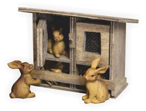 Hasenstall Kaninchenstall für Krippen