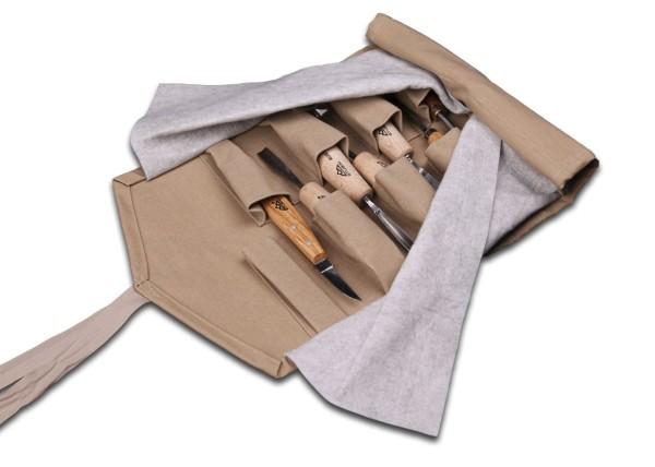 Rolltasche für Mikroeisen und Linolschnittmesser