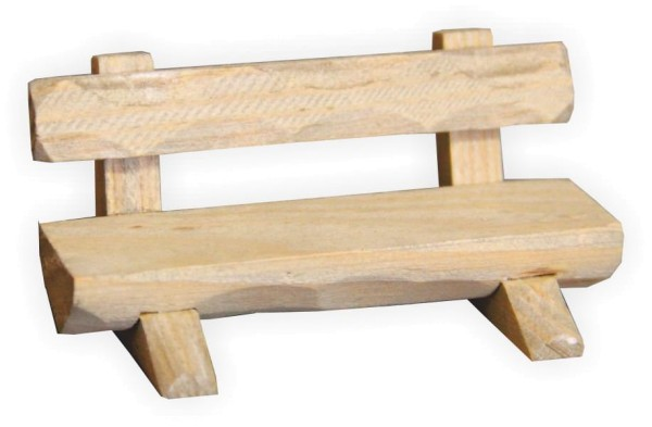 Holzbank als Krippendeko