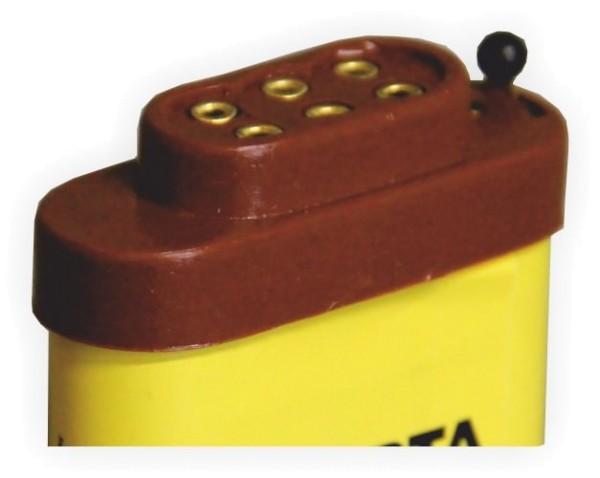 Aufsteckkappe für Flachbatterie