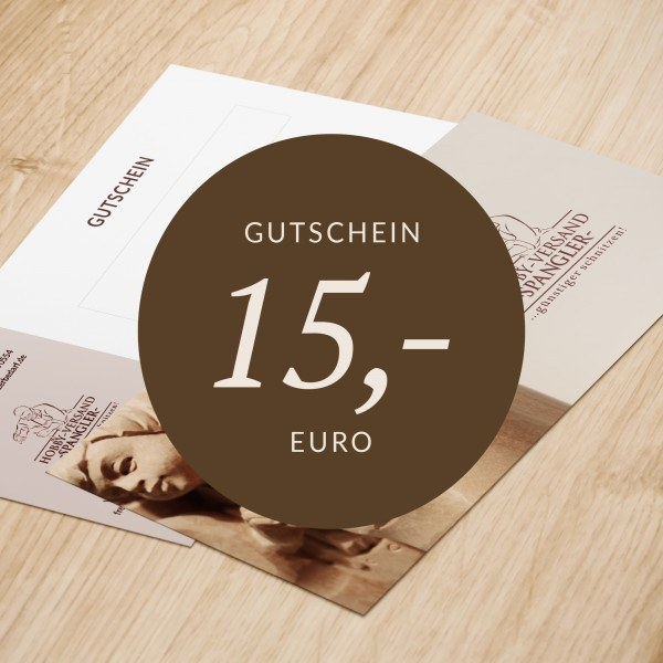 Gutschein 15 - 200 Euro